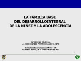Diapositiva 1 - Instituto Interamericano del Niño, la Niña y