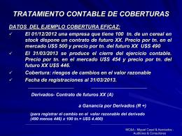 Tratamiento Contable de Cobertura Armando Miguel Casal