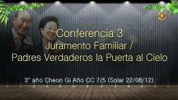 Coferencia 3 Juramento Familiar FV la Puerta al