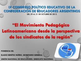 El Movimiento Pedagógico Latinoamericano desde la perspectiva