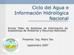 hidro insivumeh - IARNA Instituto de Agricultura, Recursos