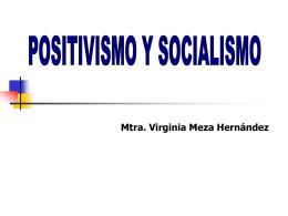 positivista - maestria en ciencias de la educación