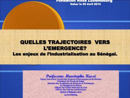 Les enjeux de l`industrialisation au Sénégal