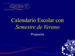 Propuesta calendario escolar CUCEA