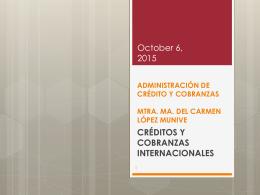 administración de crédito y cobranzas mtra. ma. del