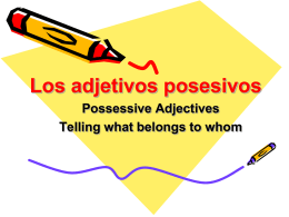 Possessive Adjectives PPT - Profe. Burke
