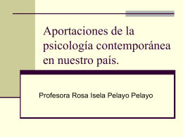 Aportaciones de la Psicología contemporánea