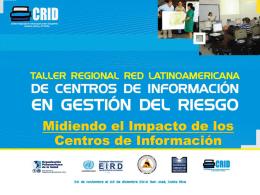 Midiendo el Impacto de los Centros de Información