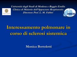 Sclerosi sistemica - Clinica malattie apparato respiratorio
