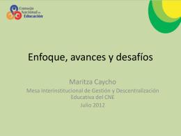 Maritza Caycho - Consejo Nacional de Educación