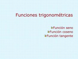 Funciones trigonom.