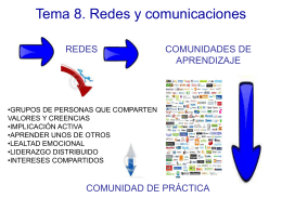 Tema 8. - Red educativa