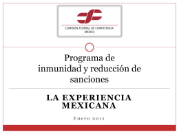 Programa de inmunidad y reducción de sanciones