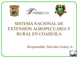 Sistema Nacional de Extensión Agropecuaria y Rural en