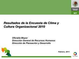 Resultados de la Encuesta de Clima y Cultura Organizacional 2010