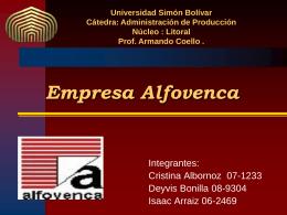 Empresa Alfovenca - ADM-DE-LA-PROD