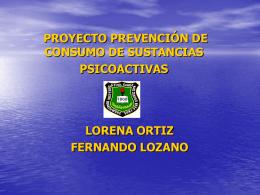 proyecto prevención de consumo de sustancias