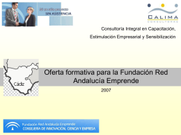 Oferta formativa Calima 2007