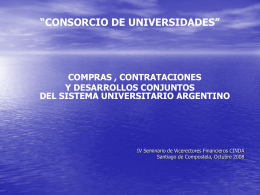 Desarrollos conjuntos - Universidade de Santiago de Compostela