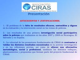 Presentación General de la Asociación CIRAS