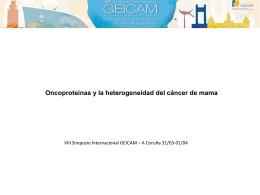 Oncoproteínas y la heterogeneidad del cáncer de mama