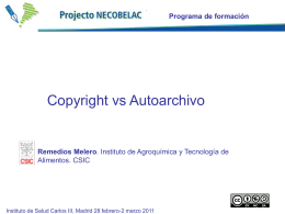 Reme Melero: Copyright vs Autoarchivo