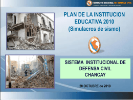 PLAN DE LA INSTITUCION EDUCATIVA 2010