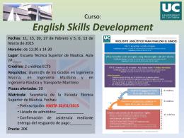 Curso: Habilidades de comunicación oral y escrita en inglés