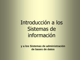 Sistemas de administración de bases de datos