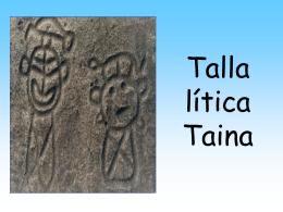 Talla lítica Taina
