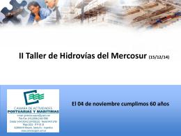II Taller de Hidrovías del Mercosur
