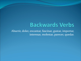 Backwards Verbs