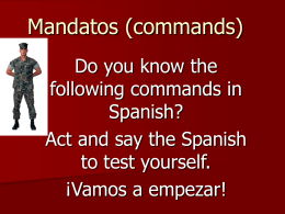Mandatos (commands)