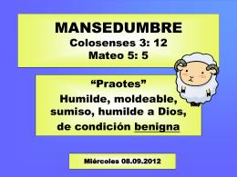8. mansedumbre - Iglesia Cristiana La Serena