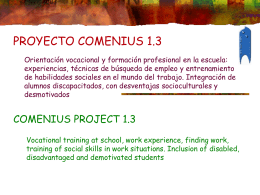 PLAN COMENIUS