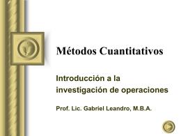 Introduccion Metodos Cuantitativos