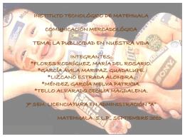 la publicidad en nuestra vida. - comunicacionmercadologicaAA