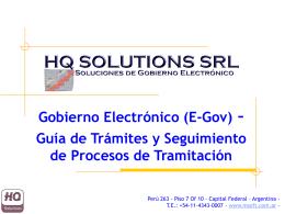 Gobierno Electrónico (E-Gov)