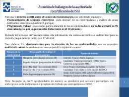 Atención de hallazgos de la auditoría de recertificación del SGI