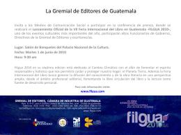La Gremial de Editores de Guatemala