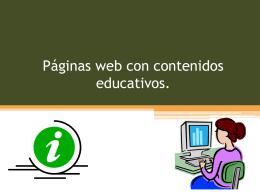 Paginas web con contenido educativo clase 4