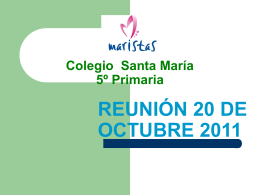 Colegio Santa María 5º Primaria - 5maristastoledo