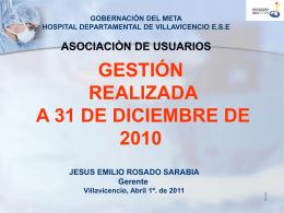 3. gestión administrativa - Hospital Departamental de Villavicencio
