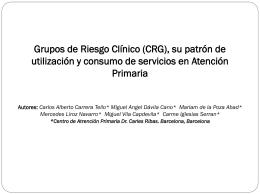 Grupos de Riesgo Clínico (CRG)