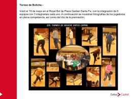 Torneo de Boliche.