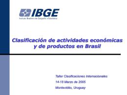 Apresentação Belo Horizonte - Instituto Nacional de Estadísticas