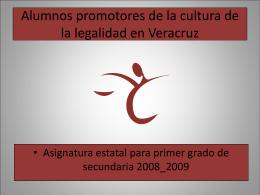 Alumnos Promotores de la Cultura de la Legalidad