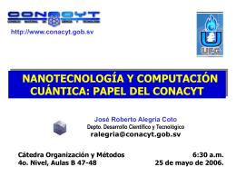 computación cuántica - Consejo Nacional de Ciencia y Tecnología