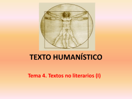 TEXTO HUMANÍSTICO - lenguayliteraturasoto