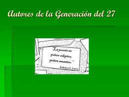 Autores de la Generación del 27 (444416)